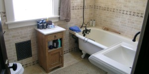 Old Town Bath Remodel in Vintage Craftsman home.